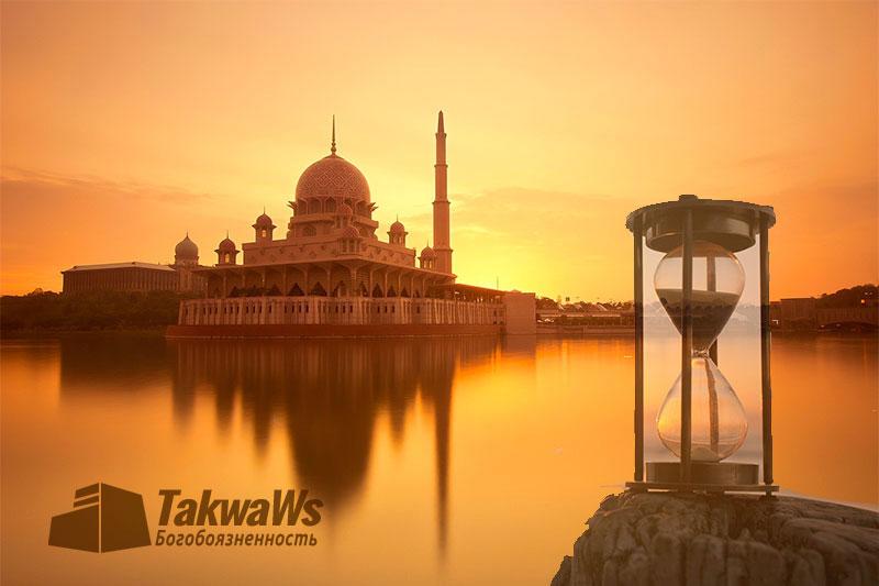 Определение времен пяти обязательных ежедневных молитв